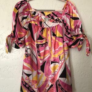 Allison Taylor size large blouse, multicolor